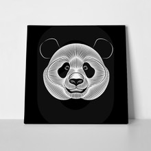 Giant panda on black lineart 1015230430 a