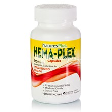 Natures Plus HEMA-PLEX - Αναιμία, 60 caps