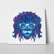 Colorful lion with glasses 655159072 a