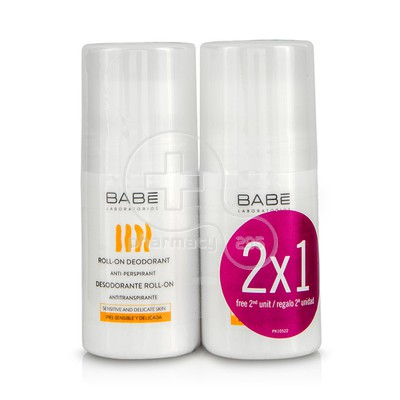 BABE - PROMO PACK 1+1 ΔΩΡΟ Roll on Deodorant Anti perspirant - 50ml