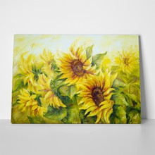Sunny sunflowers oil painting 106315841 a