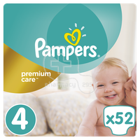 PAMPERS - PREMIUM CARE No4 (8-14kg) - 52 πάνες
