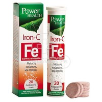 POWER HEALTH - Fe Iron+Vitamin C - 20eff.tabs