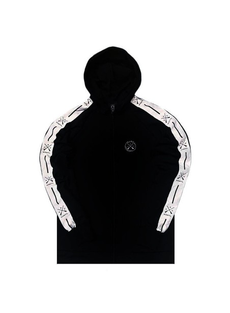 VINYL ART CLOTHING BLACK HOODIE FULL ZIP