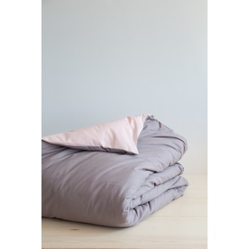 Παπλωματοθήκη Μονή (160x240) Colors (Powder Pink / Dark Taupe) NIMA Home