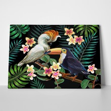Tropical birds plants painting 559007989 a