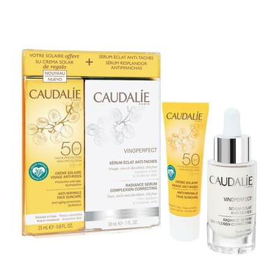 Caudalie - Vinoperfect Radiance Serum Complexion Correcting 30ml & Anti-Wrinkle Face Suncare SPF50 - 25ml