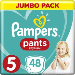 Pampers Jumbo Pack Pants No 5 (12-17kg), 48τμχ