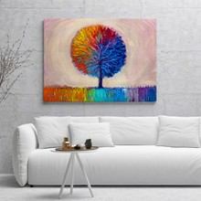 Artistic colorful tree