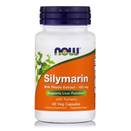 Now Silymarin 150 mg, (80% Milk Thistle Extract), 60 Vcaps.