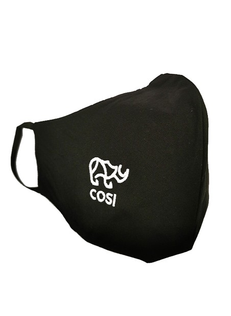 COSI JEANS BLACK PROTECTIVE MASK WITH THE RHINO LOGO
