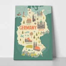 Illustrated map germany 751159405 a