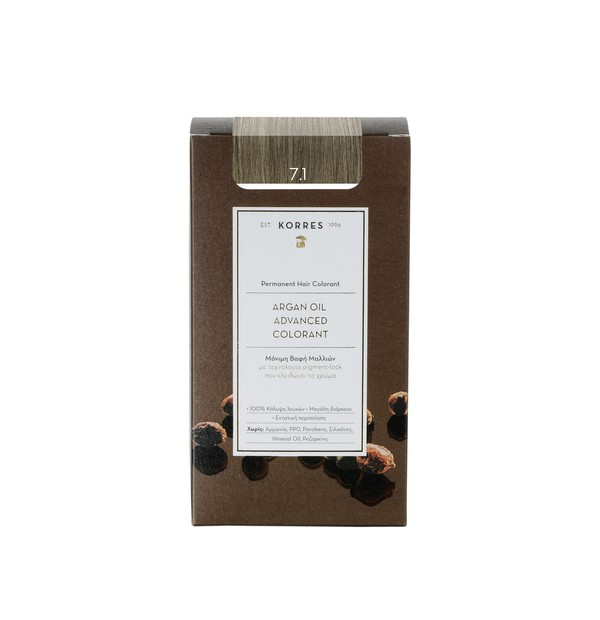 KORRES ΒΑΦΗ 7.1 ARGAN OIL COLORANT