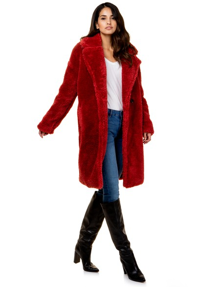 Faux red fur