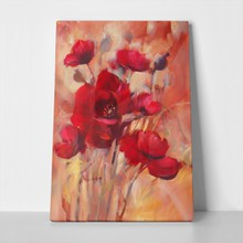Red romantic poppy flowers handmade oil painting 404248402 a