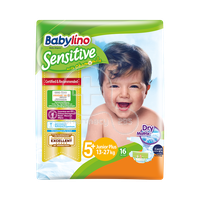 BABYLINO - Babylino Sensitive Junior No5+ (13-27 Kg) - 16 πάνες