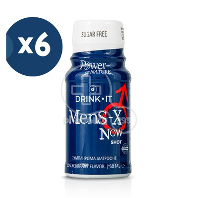 POWER HEALTH - PROMO PACK 6 TEMAXIA DRINK IT MEN'S-X Now Shot - 60ml