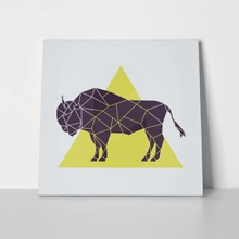 Polygonal geometric buffalo 781348894 a