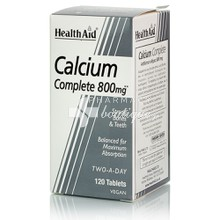 Health Aid CALCIUM Complete 800mg - Ασβέστιο, 120 tabs