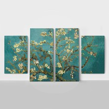 4panel van gogh almond blossom