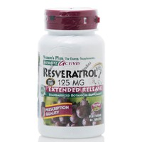NATURE'S PLUS - HERBAL ACTIVES Resveratrol Extended Release 125mg - 60 caps