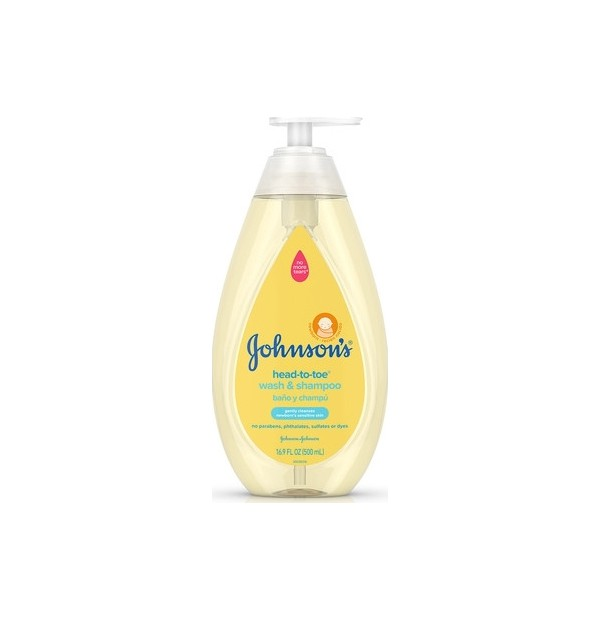 JOHNSONS BABY TOP-TO-TOE WASH 500ML PUMP