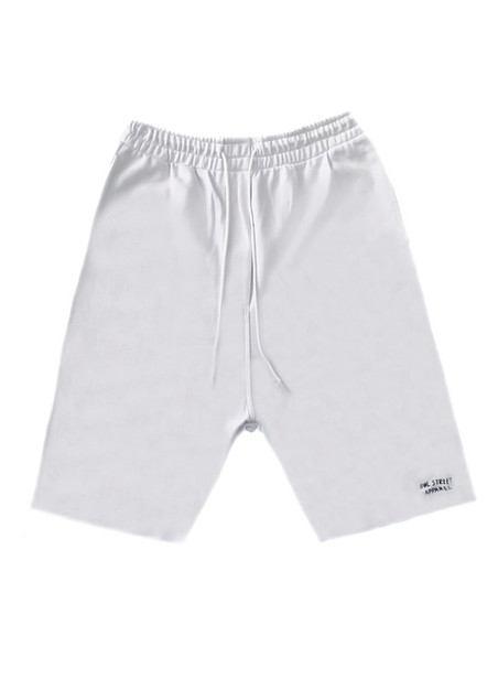OWL CLOTHES SHORTS DROP CROTCH WHITE