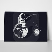 Astronaut fishing moon 641095225 a
