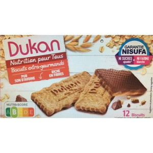 Dukan expert oat biscuits with chocolate coating