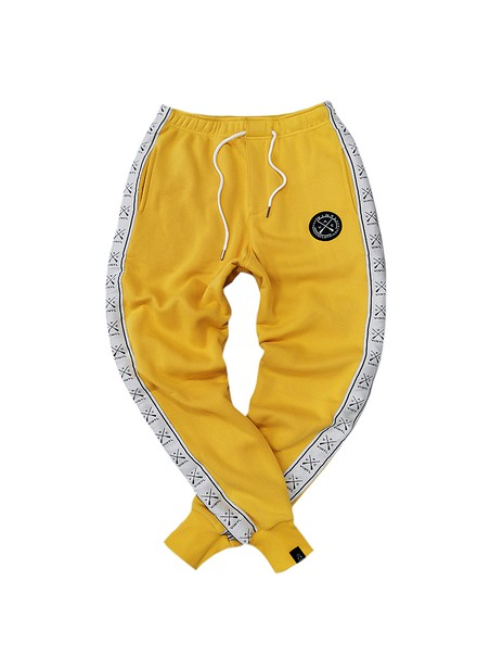 VINYL ART CLOTHING YELLOW TAPED SIDE PANTS