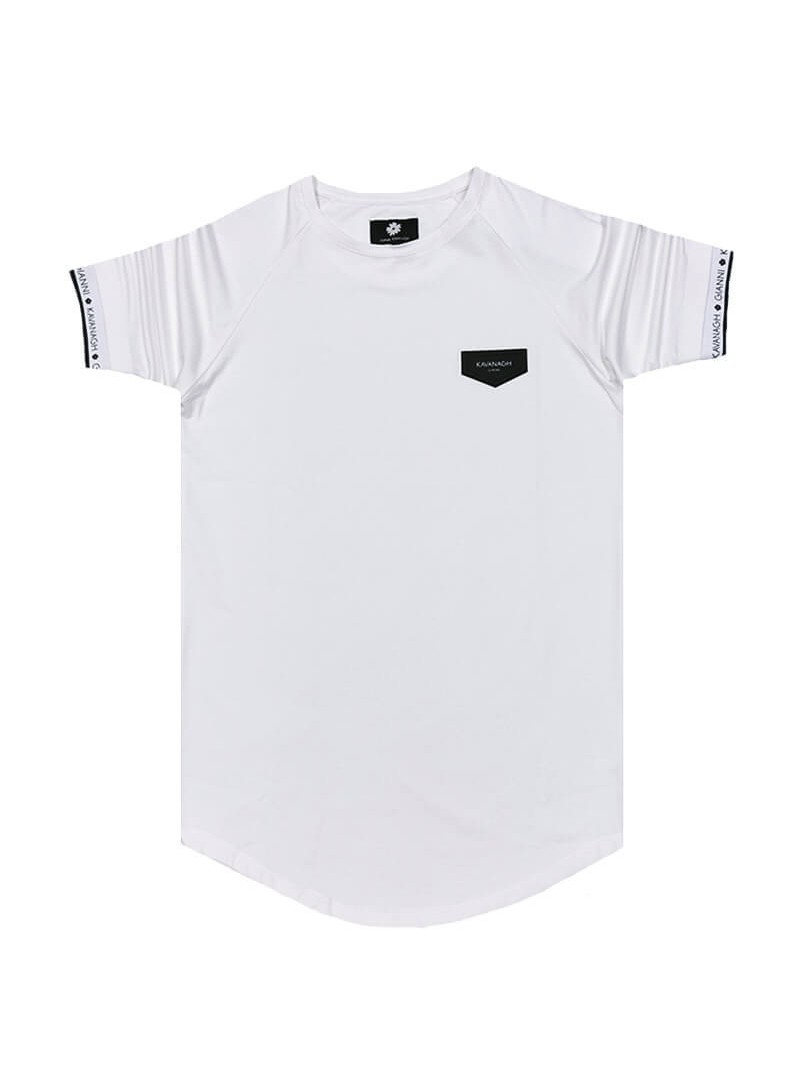 Gianni Kavanagh White Tee With GK Elastic
