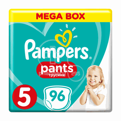 PAMPERS - MEGA BOX Pants No5 (12-18kg Junior) - 96 πάνες