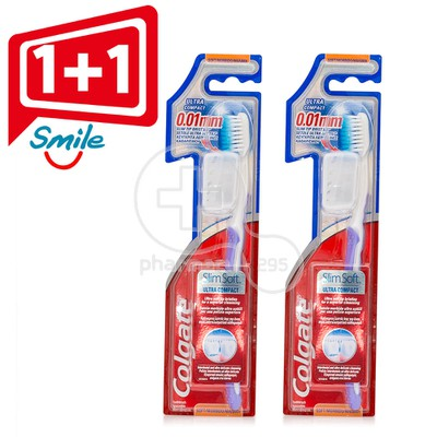 COLGATE - PROMO PACK 1+1 ΔΩΡΟ Οδοντόβουρτσα Slim Soft Ultra Compact (Soft)