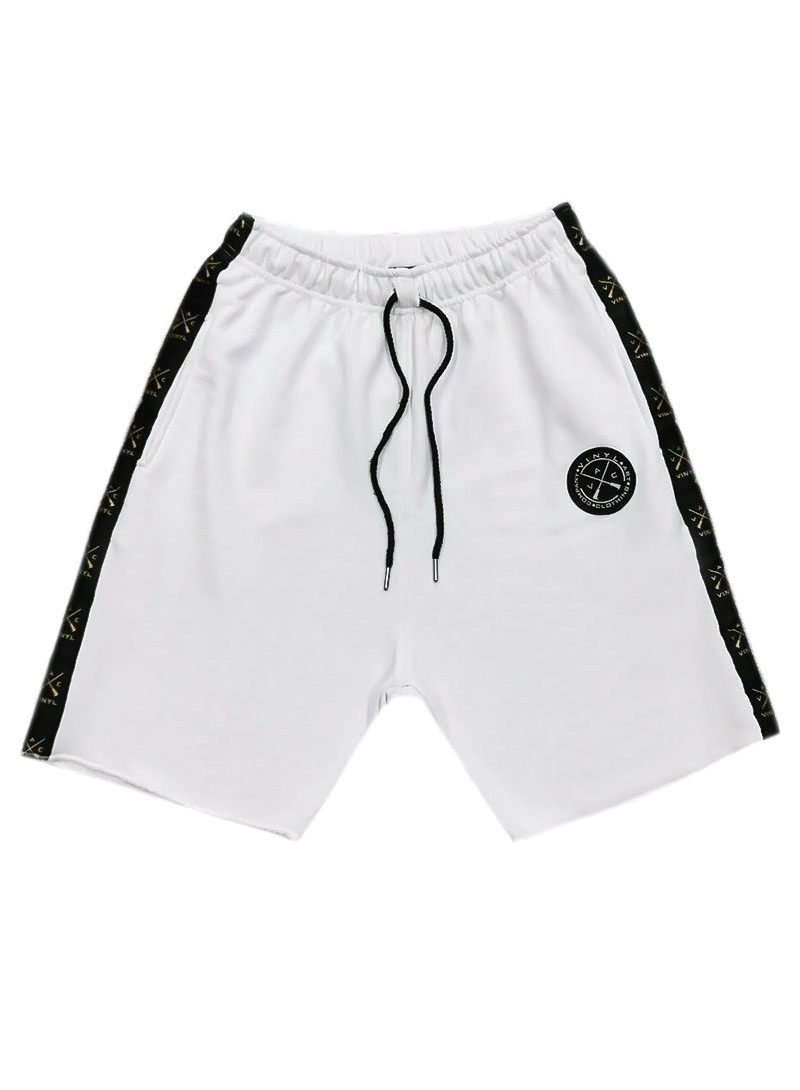 VINYL ART CLOTHING WHITE STRIPE SHORTS
