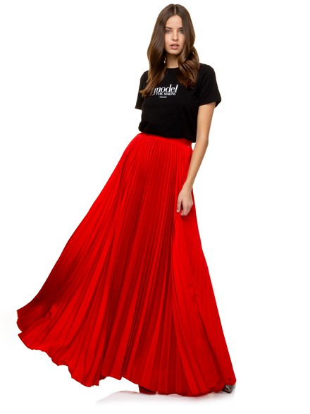 Maxi pleated dress