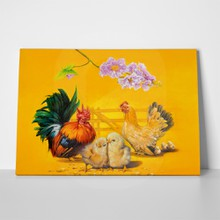 Chicken family oil painting 474093958 a