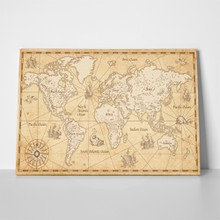 Vintage parchment world map 741575320 a
