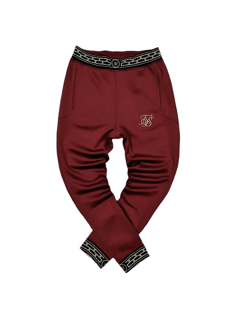 SikSilk  Agility Track Pants – Red