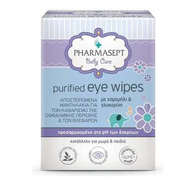 Pharmasept - Baby Purified Eye Wipes - 10τμχ
