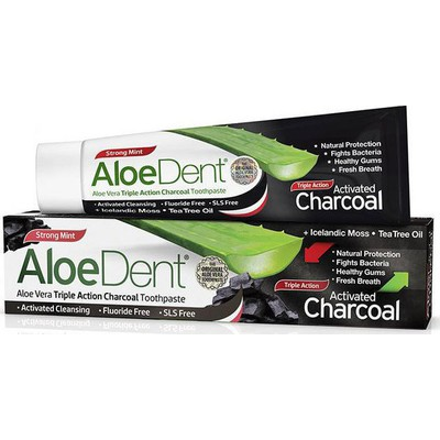 OPTIMA  ALOEDENT CHARCOAL TOOTHPASTE 100ML
