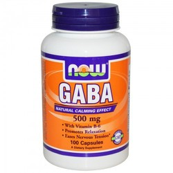 Now Gaba +Vitamin B6 500mg 100 Veget.caps