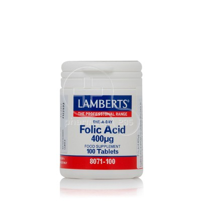 LAMBERTS - Folic Acid 400μg - 100tabs