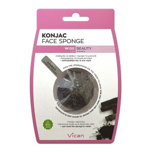 Vican konjac sponge with bamboo charcoal powder