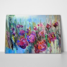 Peony flowering shrub modern paintings oil 305774876 a