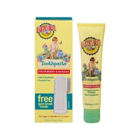 EARTH'S BEST BABY TOOTHPASTE STRAWBERRY&BANANA 45GR (+GUM BRUSH)