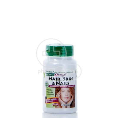 NATURE'S PLUS - HERBAL ACTIVES Hair, Skin & Nails - 60tabs