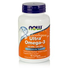 Now Ultra Omega 3 500 EPA / 250 DHA - Καρδιαγγειακό, 90softgels
