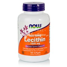 Now Lecithin 1200mg Non-GMO - Αδυνάτισμα, 100 softgels