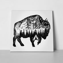 Bison tattoo art mountain 704065402 a