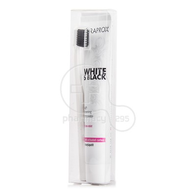 CURAPROX - WHITE IS BLACK Whitening Toothpaste (90ml) & Οδοντόβουρτσα